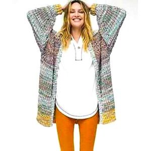 Free People Dreaming Again Ribbed Knit Cardigan